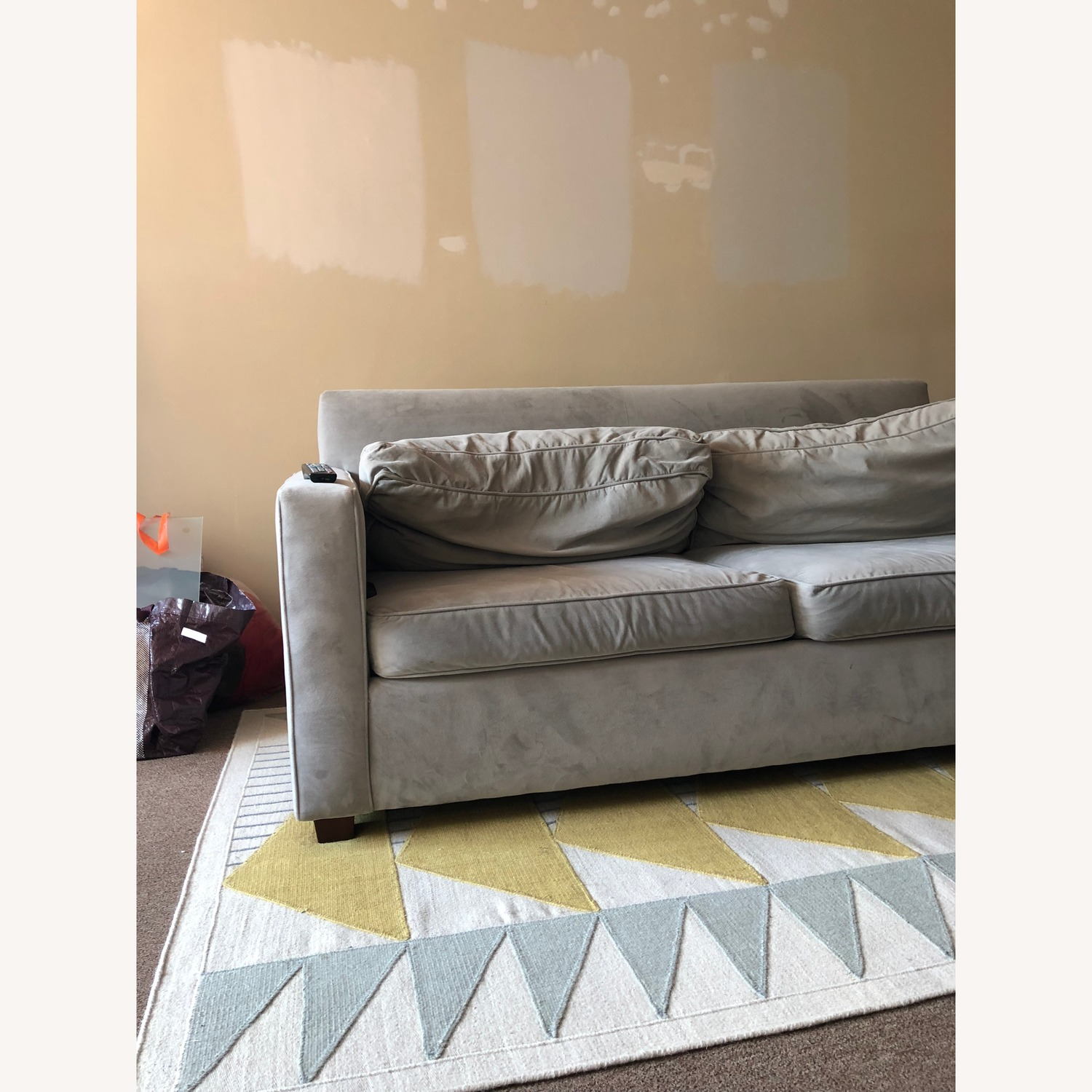 Briggs Hand-Tufted Cotton Gold/Gray Area Rug - image-3