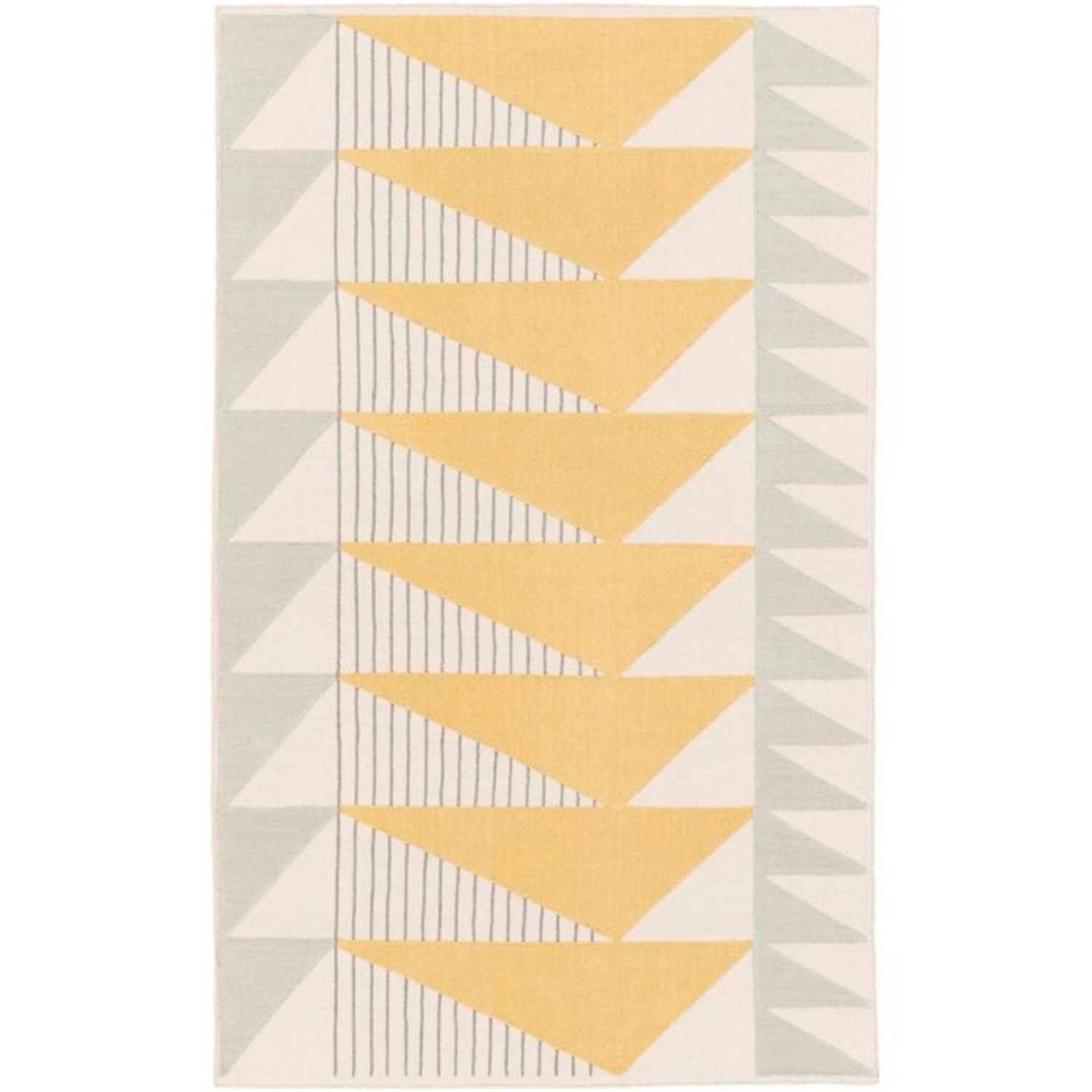 Briggs Hand-Tufted Cotton Gold/Gray Area Rug - image-0