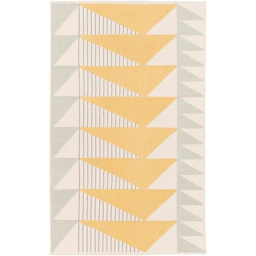 Briggs Hand-Tufted Cotton Gold/Gray Area Rug