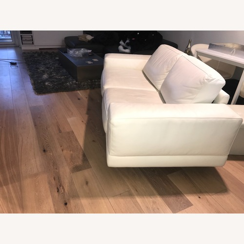 Bloomingdale's Chateau D'ax White Leather Sofa
