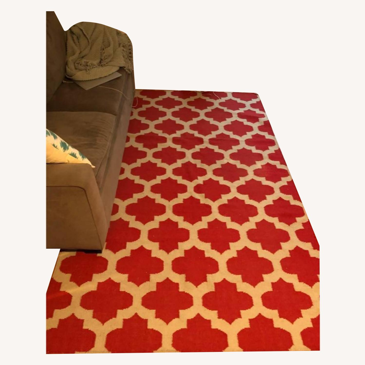 Safavieh Red & White Moroccan Style Rug - image-0