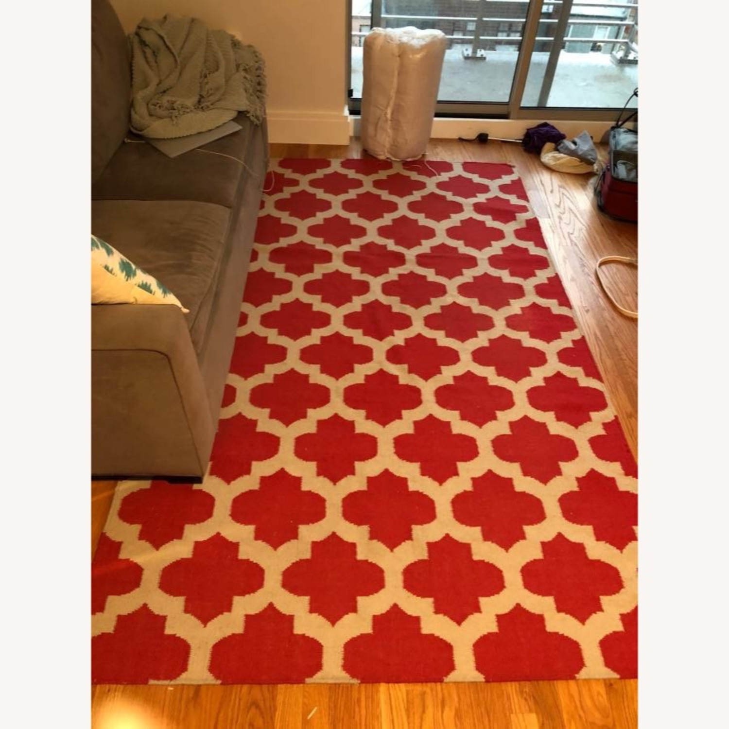 Safavieh Red & White Moroccan Style Rug - image-1