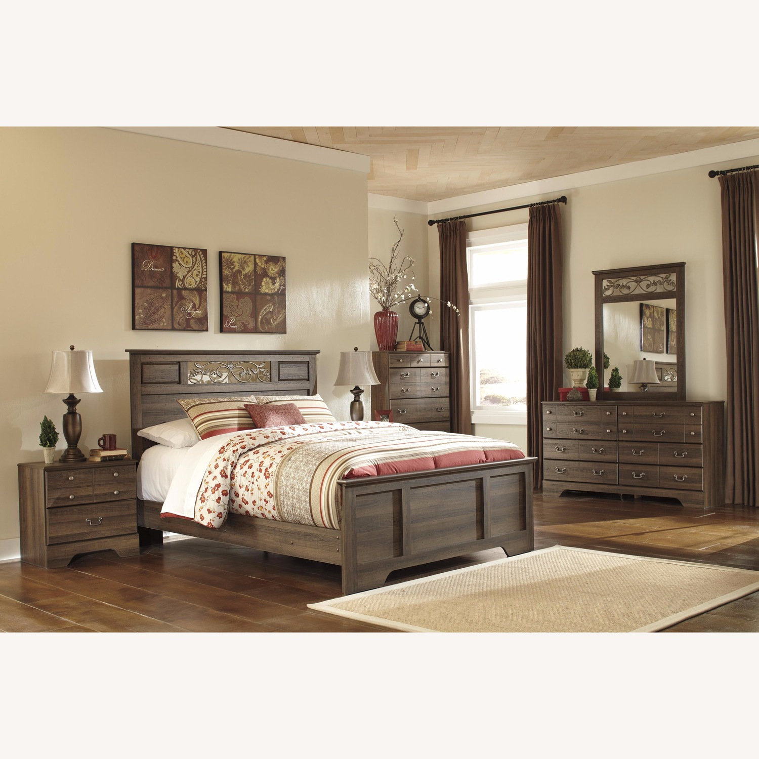 Ashley Allymore Queen Panel Bed - image-1