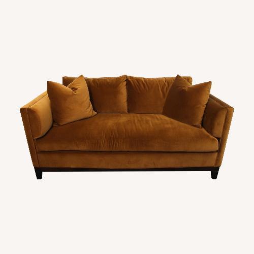 Used Hickory Chair Anna Sofa in Kravet Versailles Velvet for sale on AptDeco