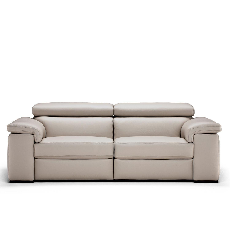 Natuzzi Leather Sleeper Sofa