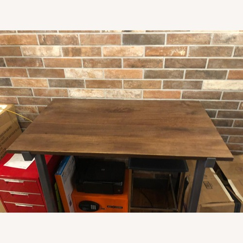 CB2 Vice High Industrial Dining Table
