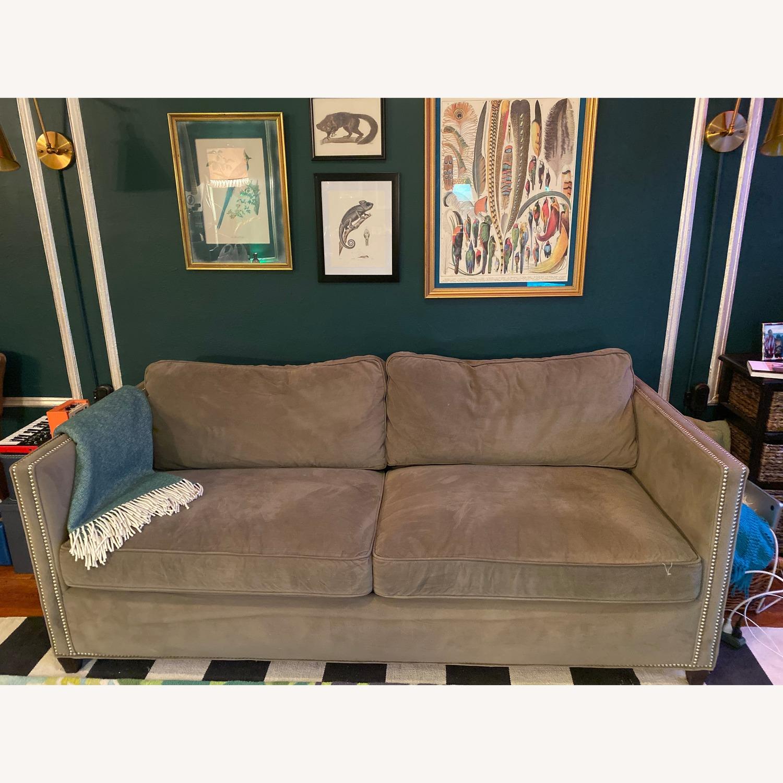 Crate & Barrel Sleeper Sofa w/ Nailheads - image-1
