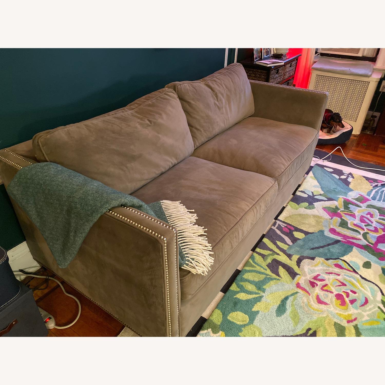 Crate & Barrel Sleeper Sofa w/ Nailheads - image-2