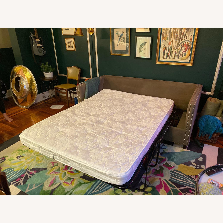 Crate & Barrel Sleeper Sofa w/ Nailheads - image-3