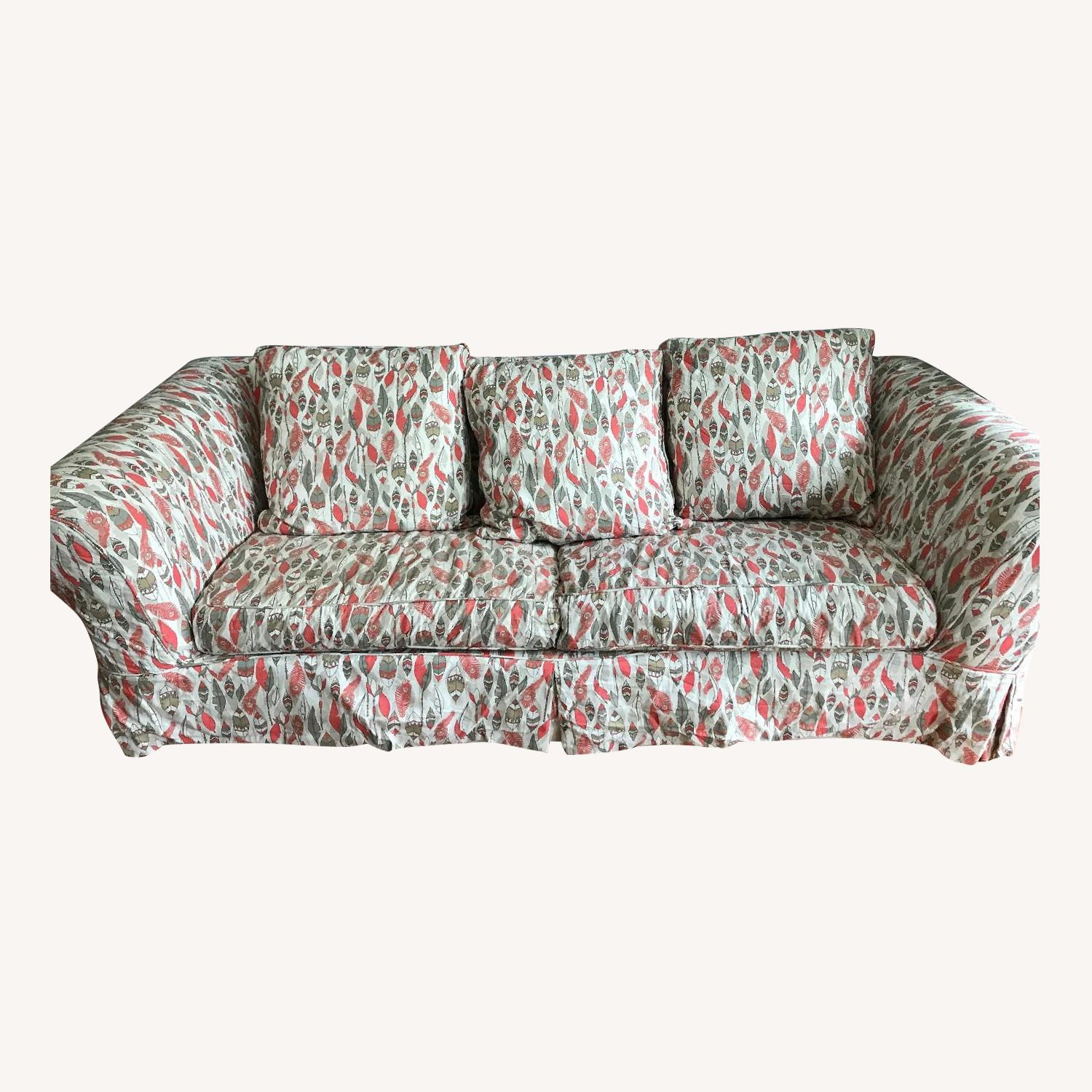 Jennifer Convertibles Queen Sleeper Sofa w/ Custom Slipcover