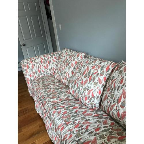 Jennifer Convertibles Queen Sleeper Sofa w/ Custom Slipcover
