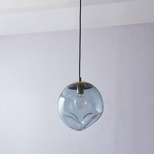 West Elm Terrene Glass Orb Pendant