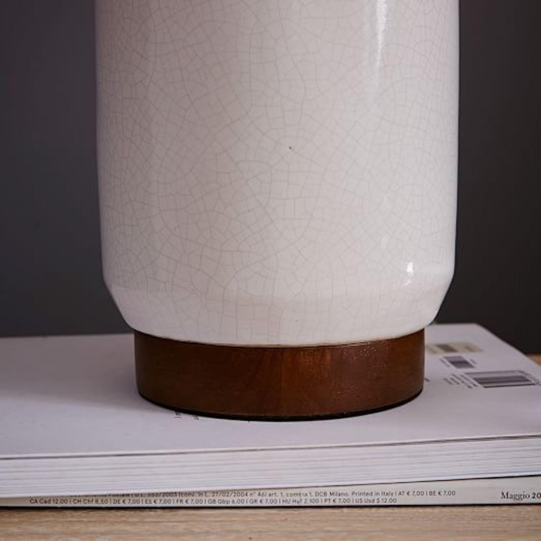 West Elm Crackle Glaze Ceramic Lamp