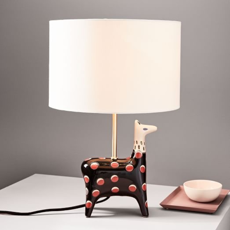 West Elm Llama Fairy Tale Table Lamp - image-2