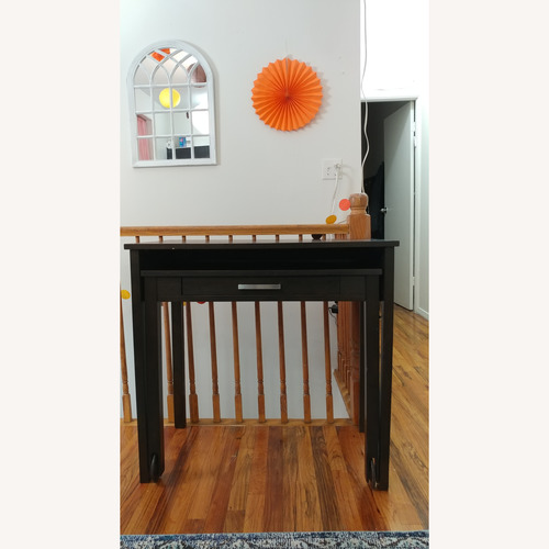 West Elm Pullout Wood Desk on Castors