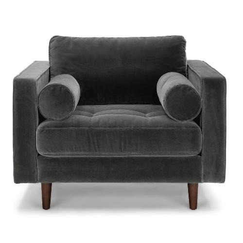 Article Sven Grey Velvet Chair