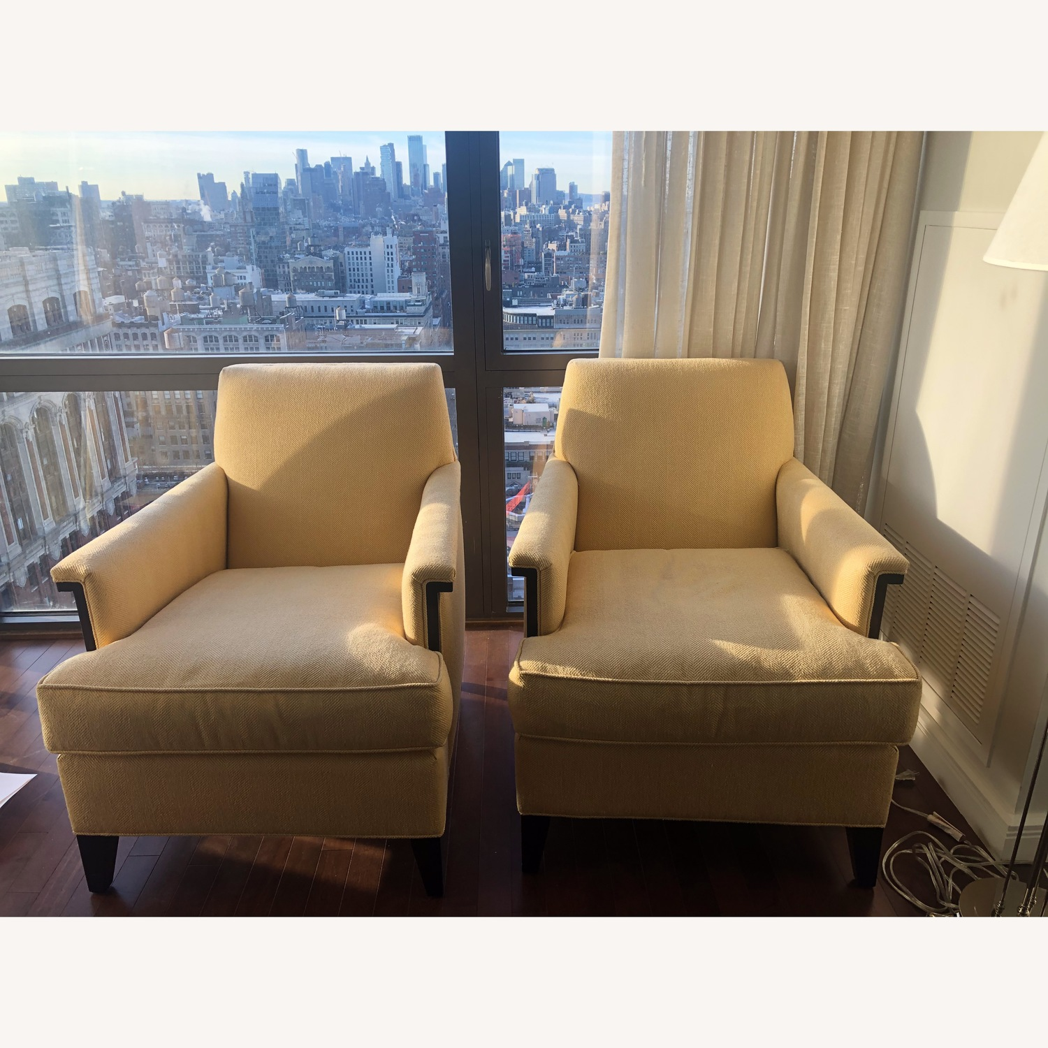 Safavieh Yellow Armchairs