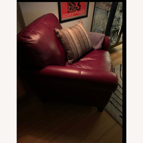 Raymour & Flanigan Red Leather Chair