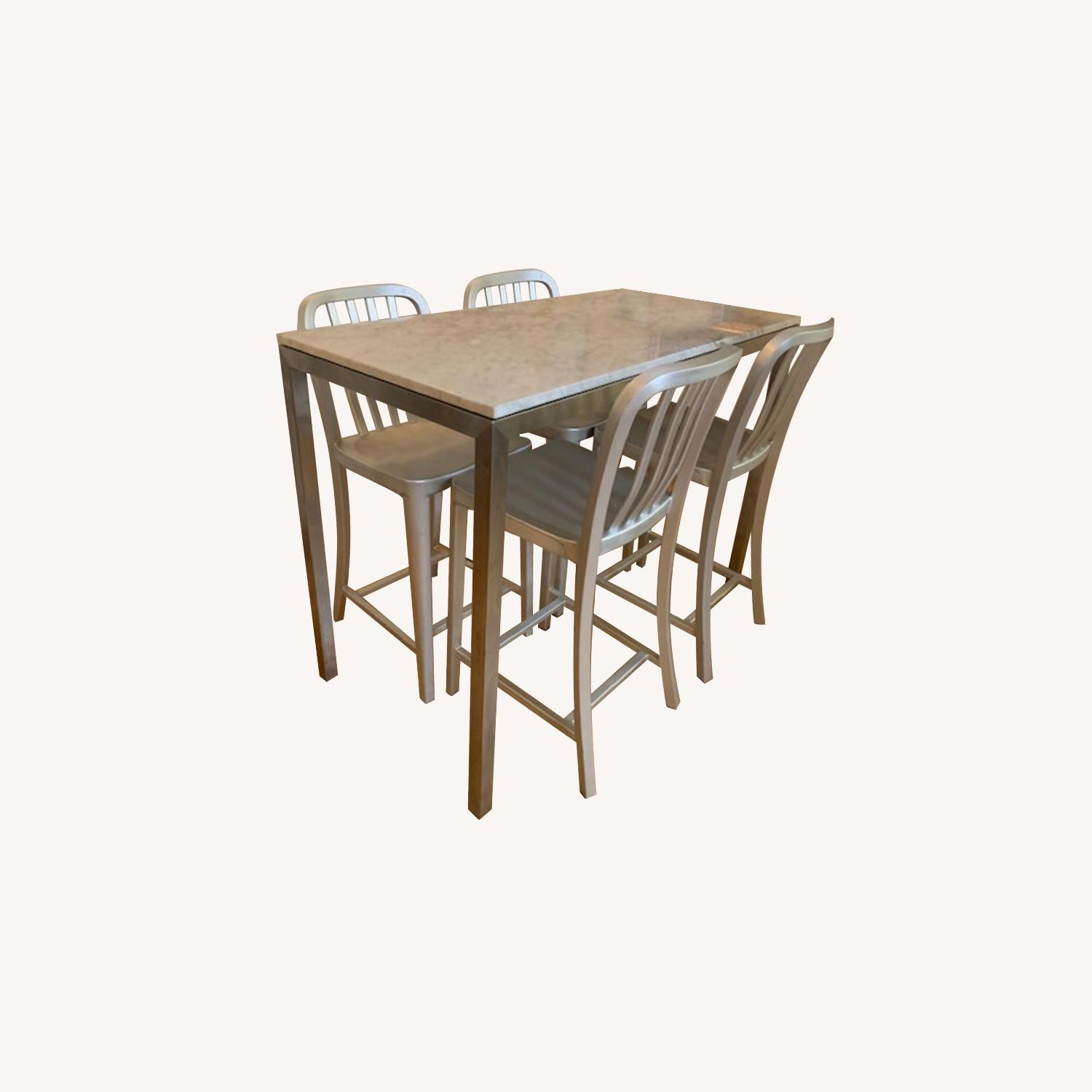 Room & Board Portica Counter Table w/ 4 Stools - image-0