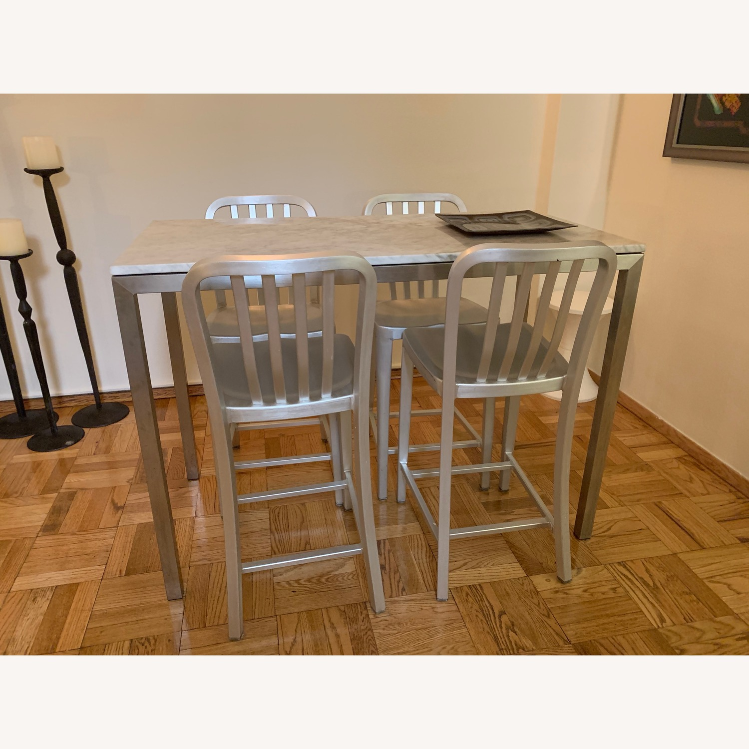 Room & Board Portica Counter Table w/ 4 Stools - image-4