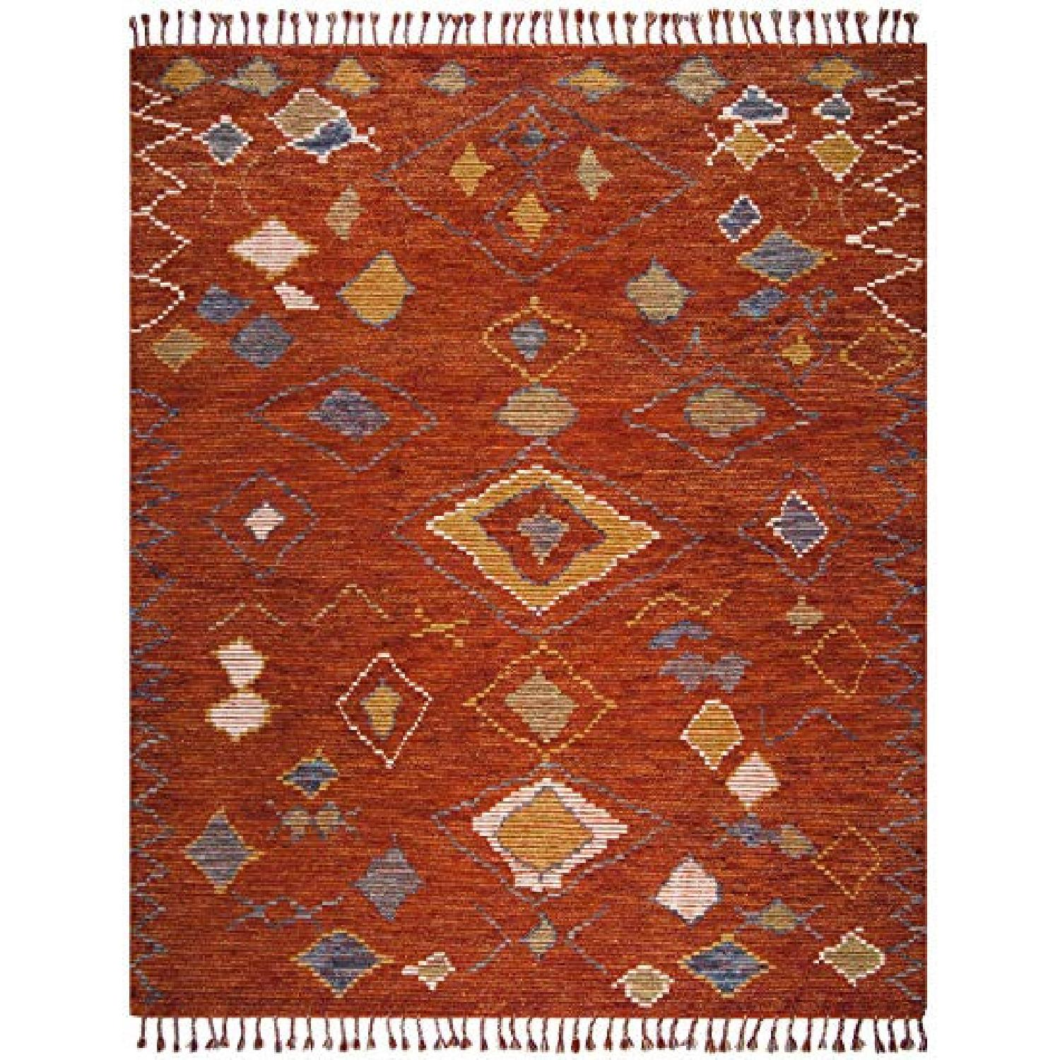 Safavieh Orange Hand Knotted Area Rug - image-0