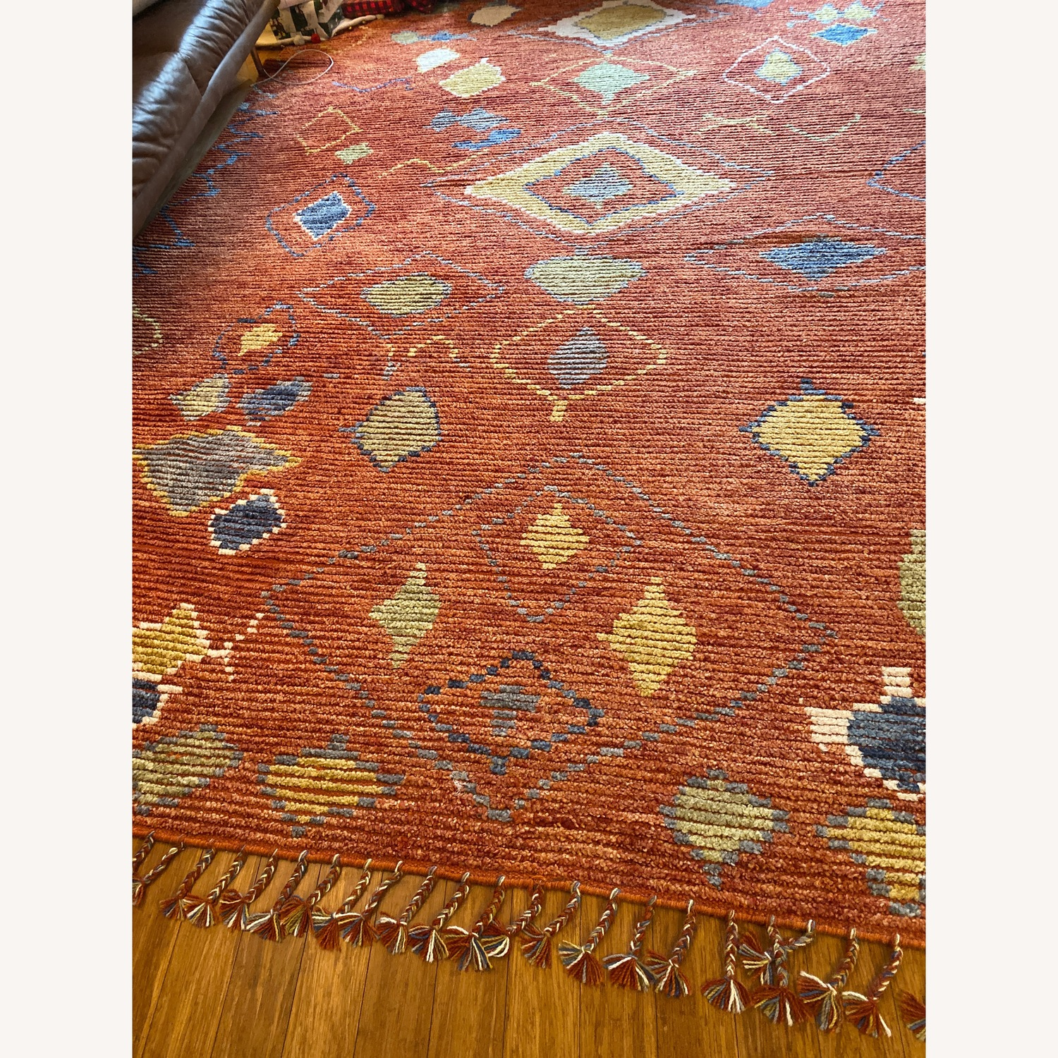 Safavieh Orange Hand Knotted Area Rug