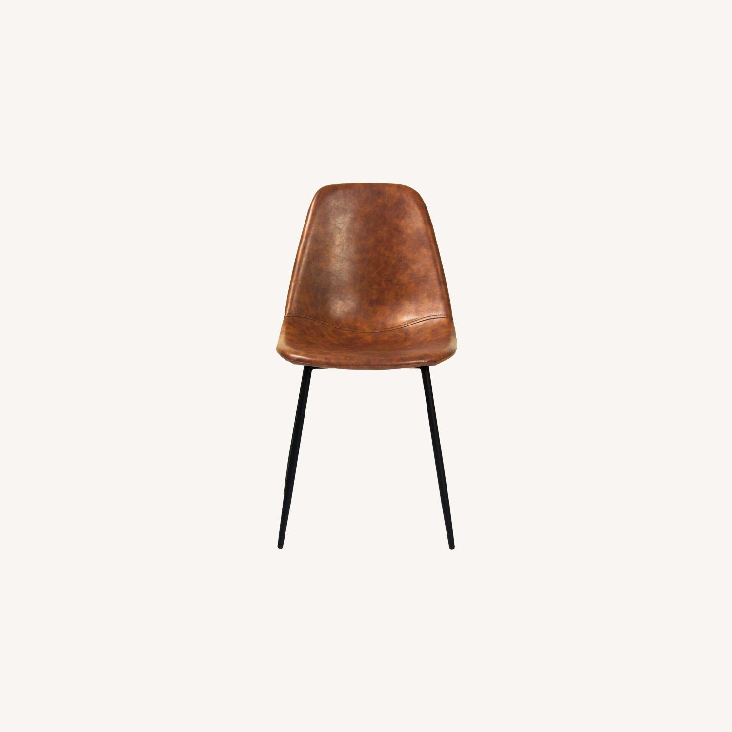 Neil Tobacco Color Faux Leather Dining Chair - image-0