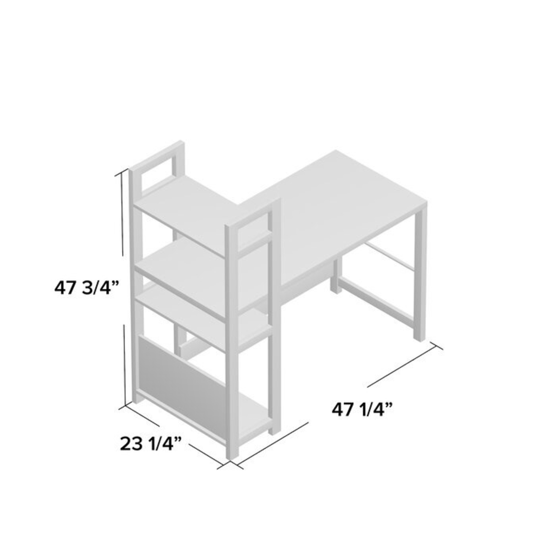 Ebern Designs Desk w/ Bookshelf - image-4