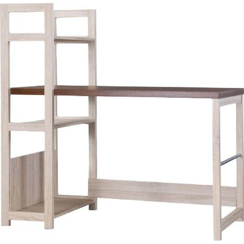 Ebern Designs Desk w/ Bookshelf - image-0