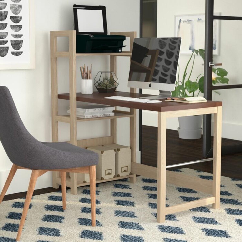 Ebern Designs Desk w/ Bookshelf - image-2