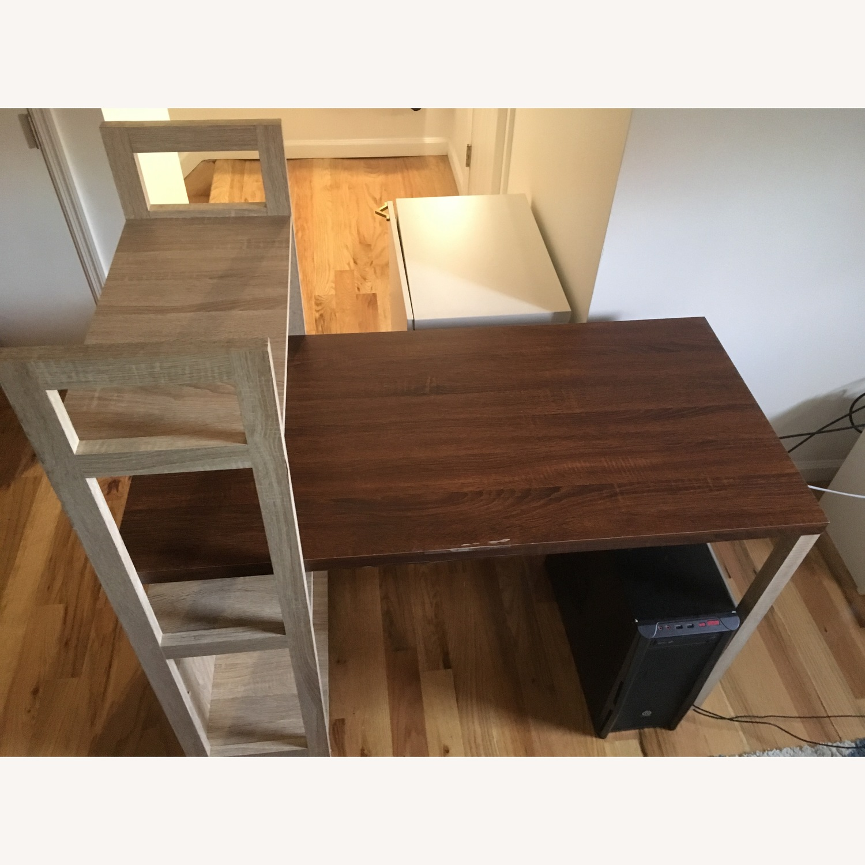 Ebern Designs Desk w/ Bookshelf