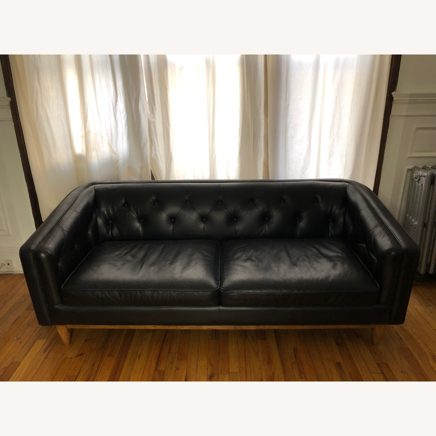 Article Black Leather Sofa - image-2