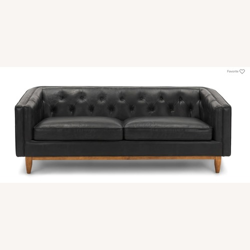 Article Black Leather Sofa