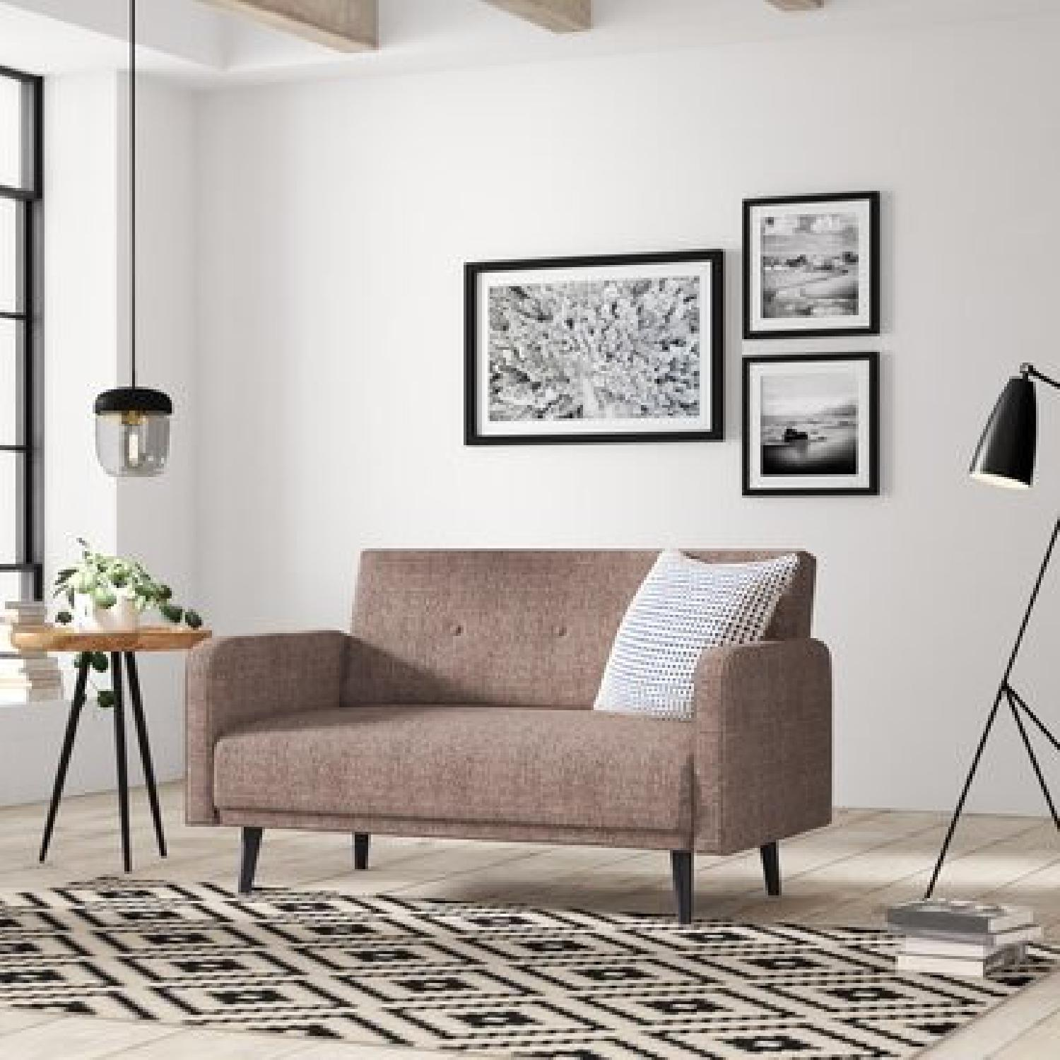 Langley Street Zelmo Brown Loveseat