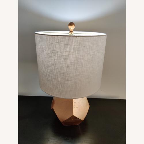 Gold Geometric Table Lamp