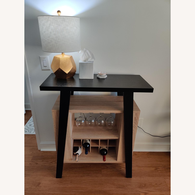 Black Bar Cart w/ Wine Rack - image-1