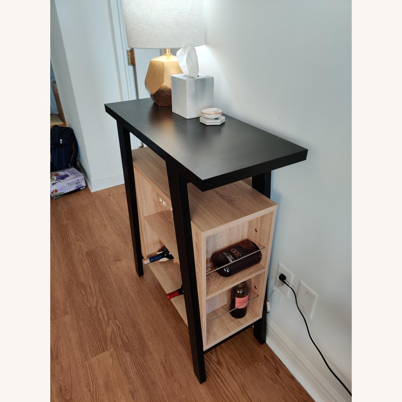 Black Bar Cart w/ Wine Rack - image-2