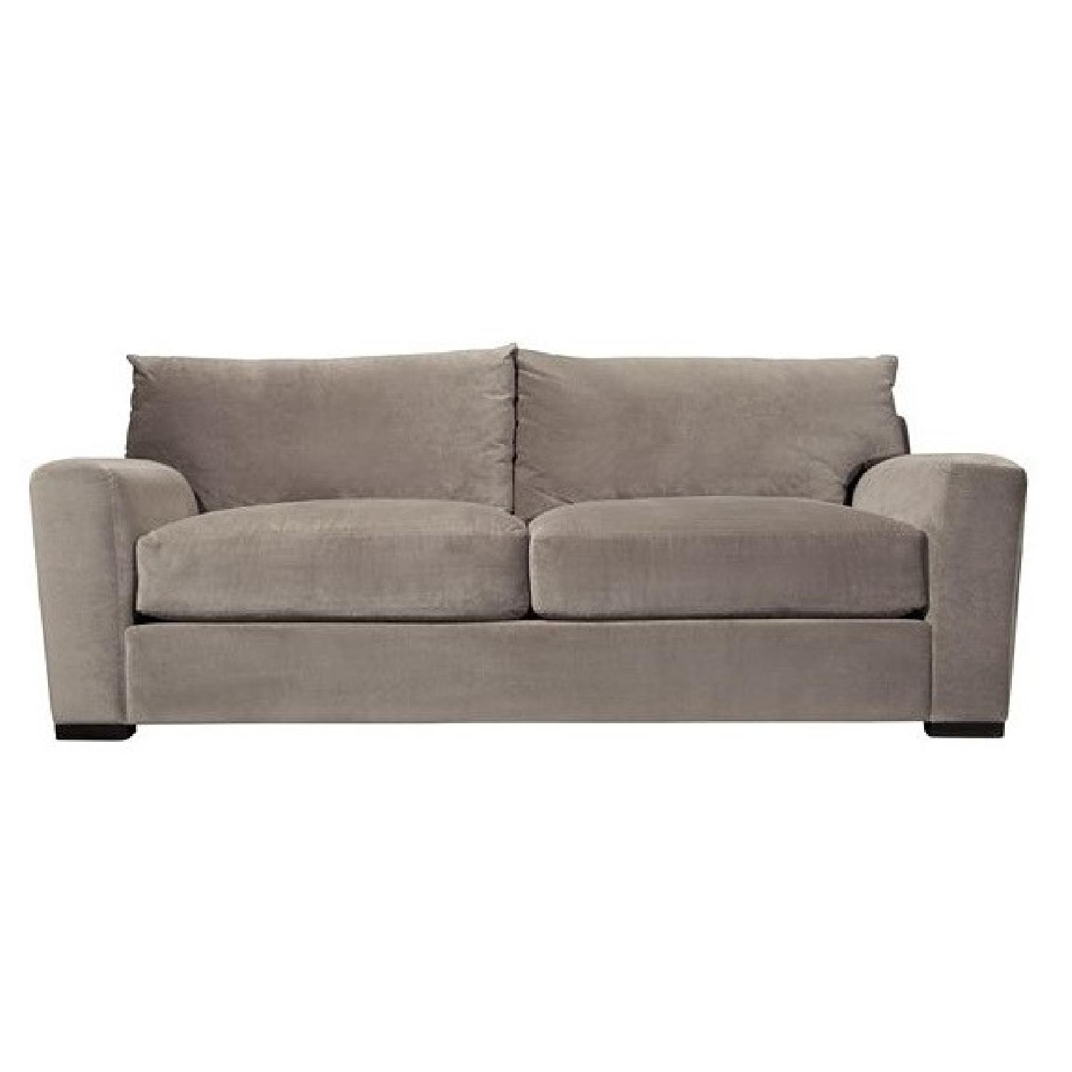 Raymour & Flanigan Carlin Microfiber Sofa + Chair - image-0
