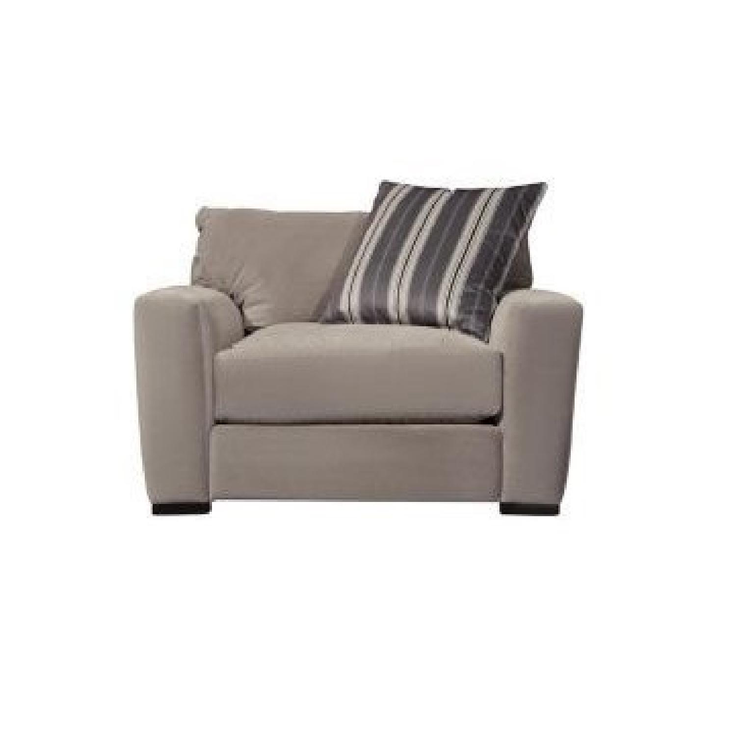 Raymour & Flanigan Carlin Microfiber Sofa + Chair - image-5