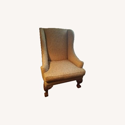 Used Ralph Lauren Natural Fabric Wing Chair for sale on AptDeco