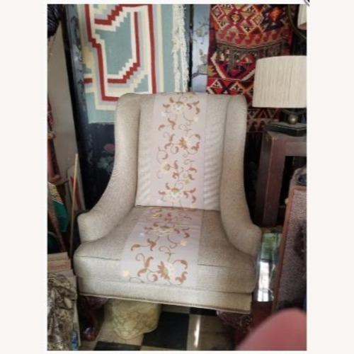 Ralph Lauren Natural Fabric Wing Chair