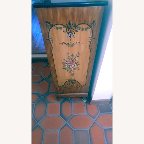 Hand-Painted Accent Chest w/ Black Granite Top