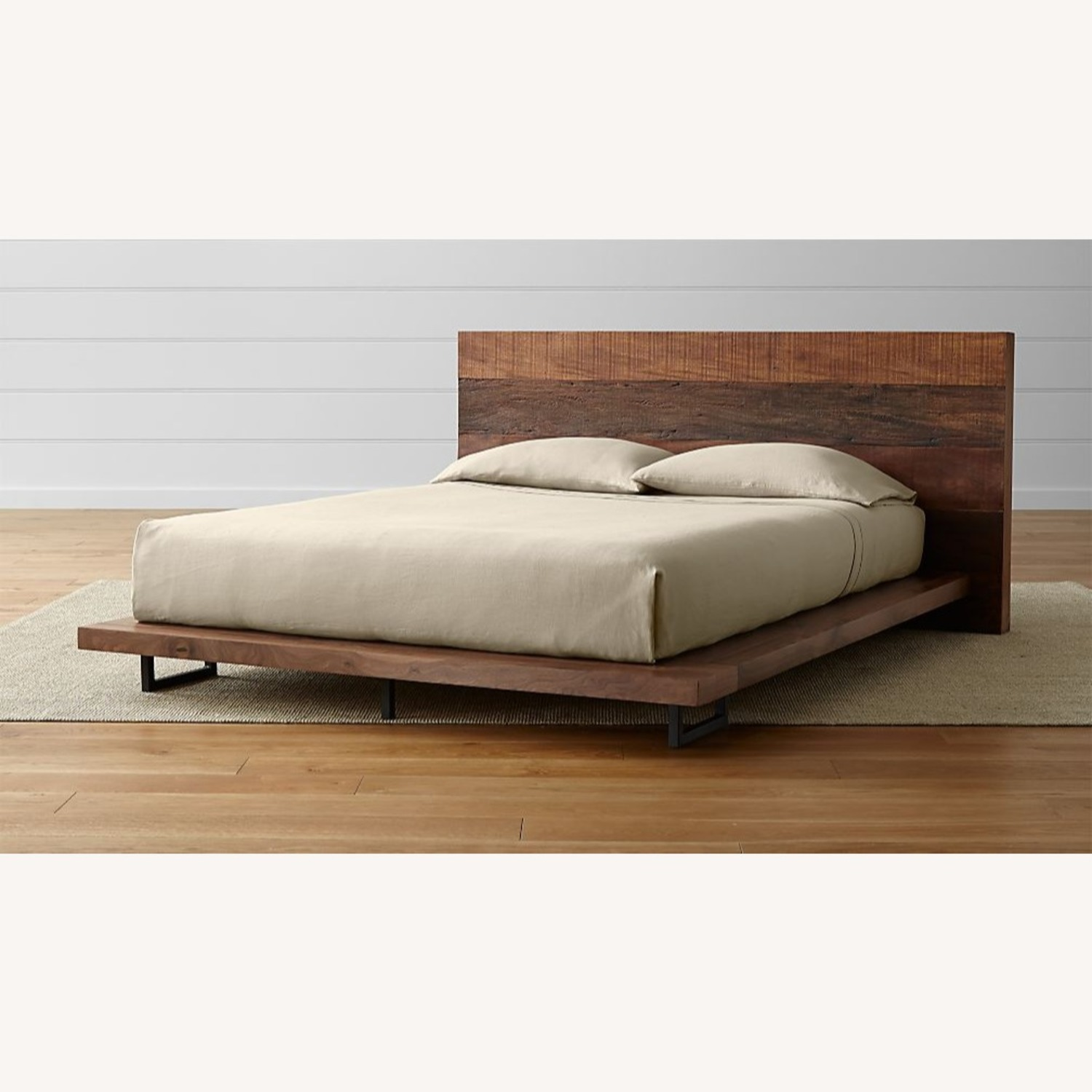 Crate & Barrel Atwood Reclaimed Wood Queen Bed - image-2