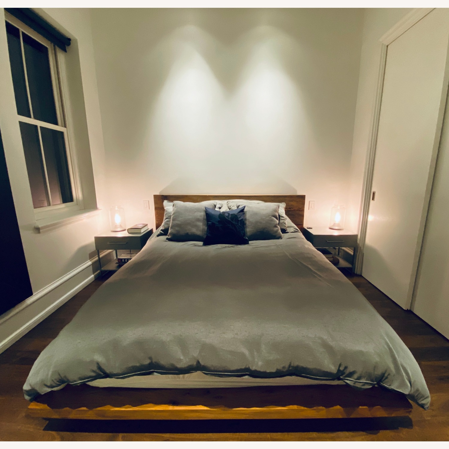 Crate & Barrel Atwood Reclaimed Wood Queen Bed - image-0