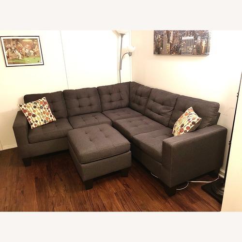 Andover Mills Pawnee 3-Piece Sectional Sofa & Ottoman