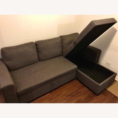 Wimborne Sleeper Sectional Sofa in Gray