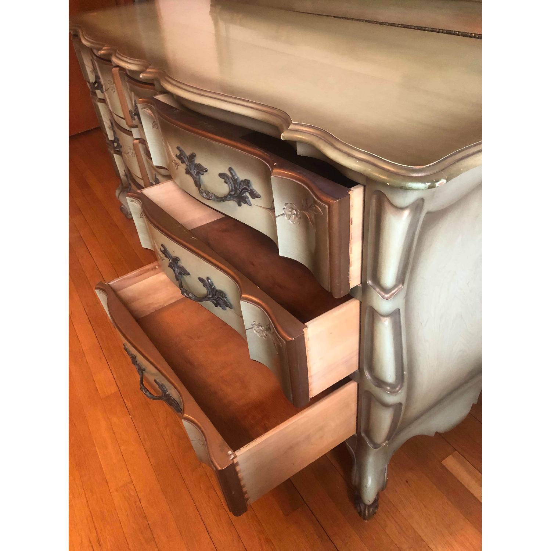 Vintage 1970s French Provincial 9 Drawer Dresser - image-14