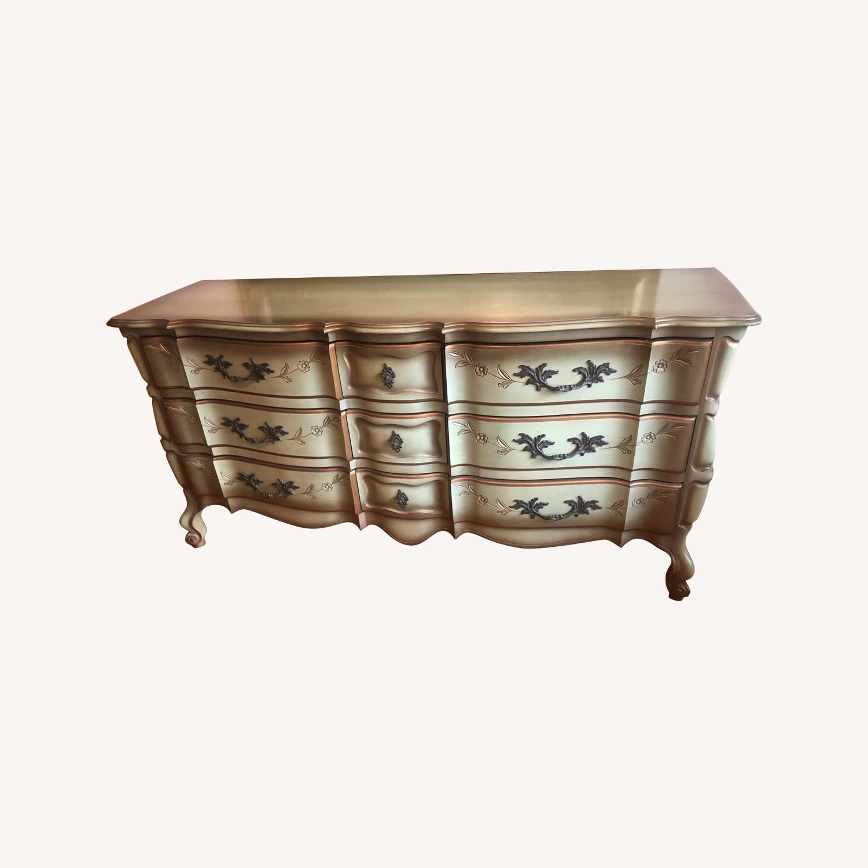 Vintage 1970s French Provincial 9 Drawer Dresser - image-0