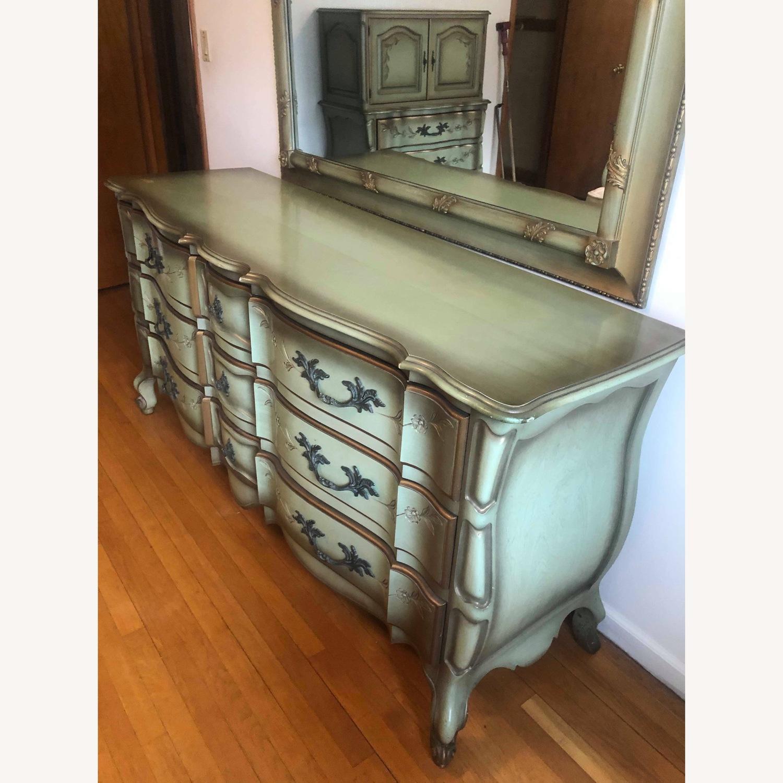 Vintage 1970s French Provincial 9 Drawer Dresser - image-2