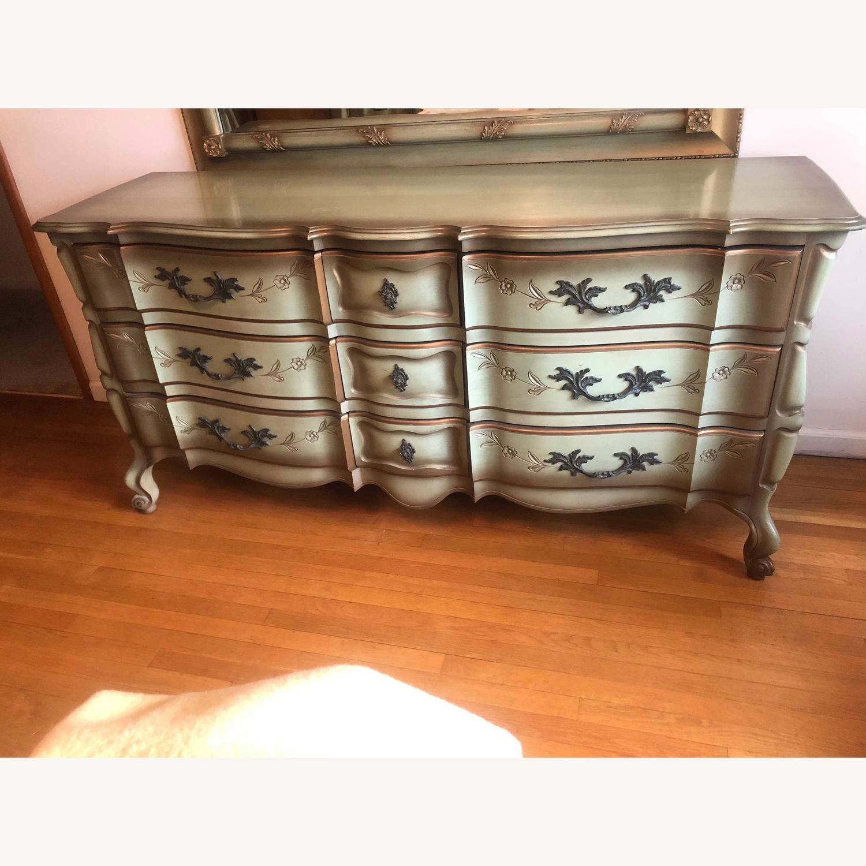 Vintage 1970s French Provincial 9 Drawer Dresser - image-1